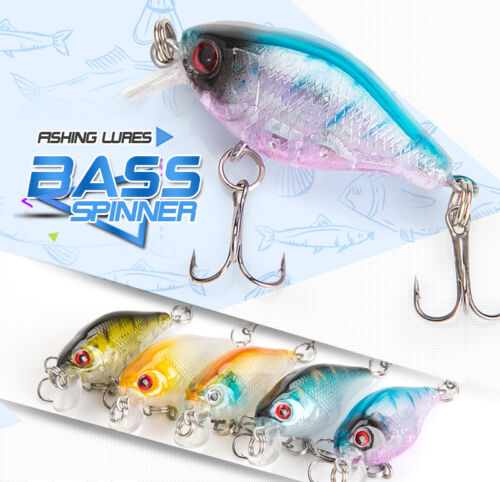 Minnow Fishing Lure 4cm 4g Crankbaits Hooks Hard Bait Artificial Wobblers Bass