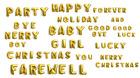 "16"" Silver/Gold Letter Phrase Foil Balloons - LOVE, BABY, YOU, BOY, GIRL & MORE"