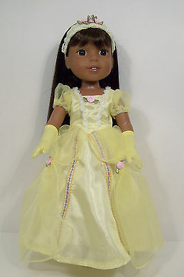 Debs GREEN Tinkerbell Dress Undies Doll Clothes For AG 14 Wellie Wisher Wishers