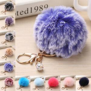 Furry-Pom-pom-Ball-Key-Chain-Ring-Keyrings-Women-Bag-Hanging-Decor-Accessory