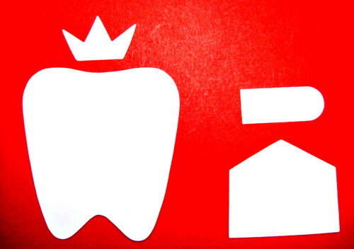 Any Colour//Card 8 Tooth Fairy Set Die Cuts Tags//Tiara//Crown//Paper Smooches