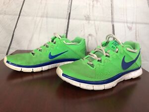be7902e87ca Details about Nike Free Trainer 3.0 Men s Size 7.5 Neon Green Blue Running  Shoes