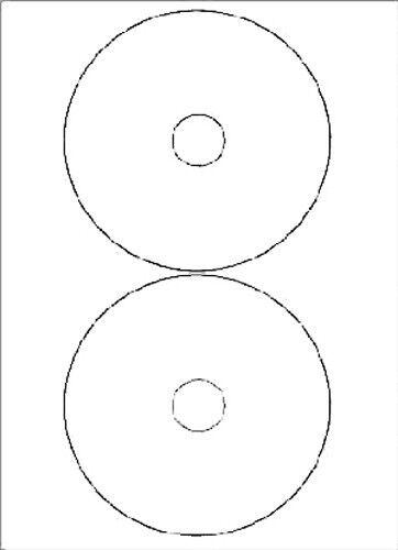400 Stk 117 mm CD ETIKETTEN 200 Blatt weiß Laser Inkjet Kopierer