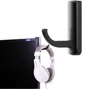 Black-Headphone-Headset-Hanger-Holder-Wall-PC-Monitor-Stand-for-Sony-AKG