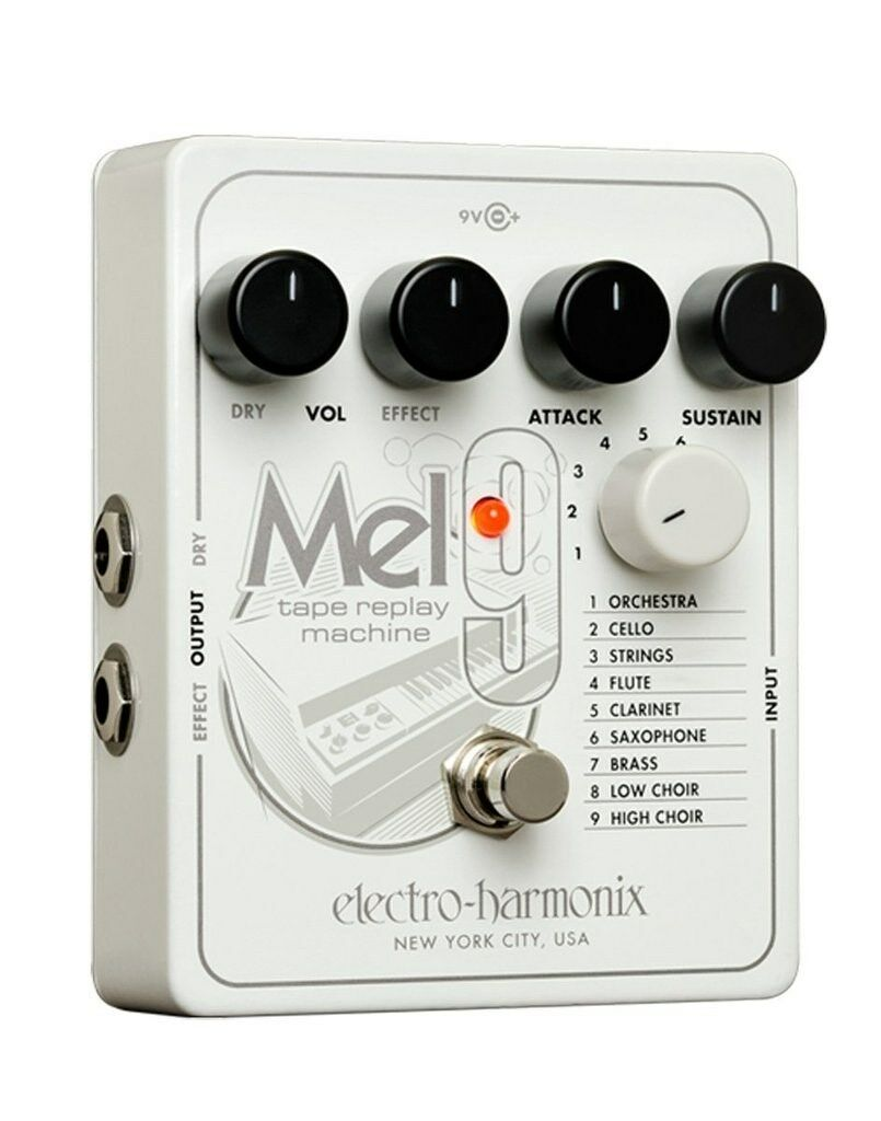 Electro-Harmonix MEL9 Tape Replay Machine Machine Machine Pedal w/ Power Supply MEL 9 EHX 8c8001