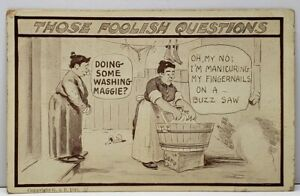 Foolish-Quest-Doing-Wash-Nope-my-Nails-1910-Ryder-to-Douglas-N-Dak-Postcard-D10