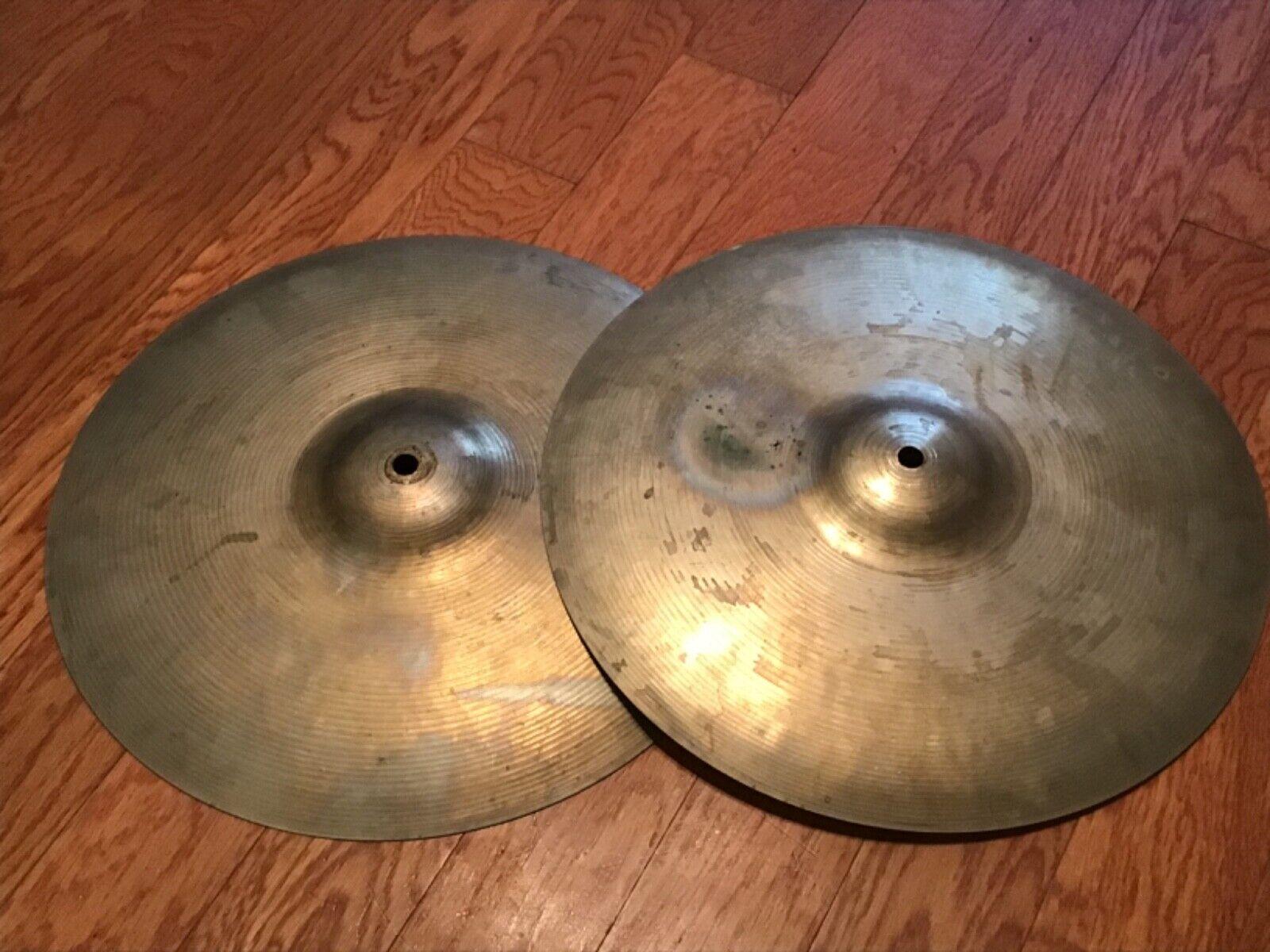 Vintage Ludwig   PAISTE  Standard series 14  Hi-Hat Cymbals