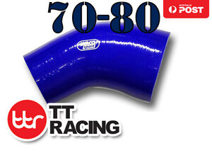 Silicone-45-Degree-Reducer-Elbow-Hose-Pipe-70mm-80mm-2-75-034-3-15-034-Blue