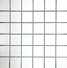 White X Shiny Porcelain Mosaic Tile Backsplash Wall Floor Kitchen - 2x2 mosaic tile for shower floor