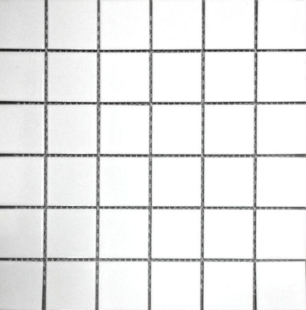 White 2x2 Shiny Porcelain Mosaic Tile Backsplash Wall Floor Kitchen Bath