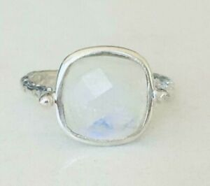 Sterling-Silver-Rainbow-Moonstone-Ring-Large-Square-Round-Size-5-6-7-8-9-10-11