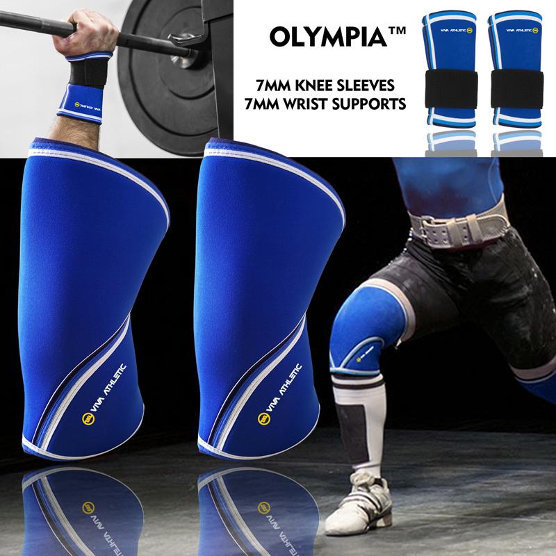 Knee Sollevamento Sleeve 7mm da Polso Sostegno Bodybuilding Palestra Power Sollevamento Knee Unisex MIX & MATCH ed5740