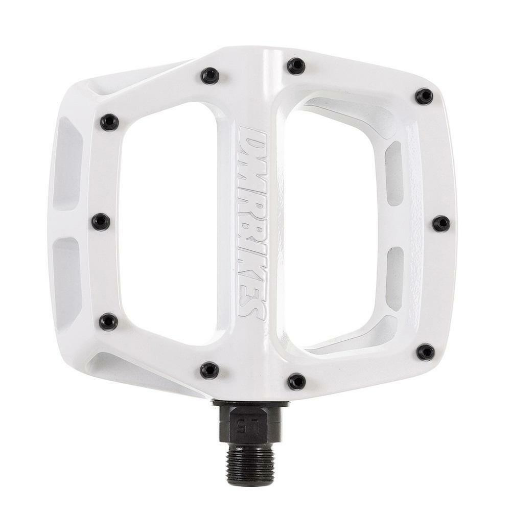 DMR V8 V2 Flat wide Mountain MTB bike Flattie Freeride pedals - White
