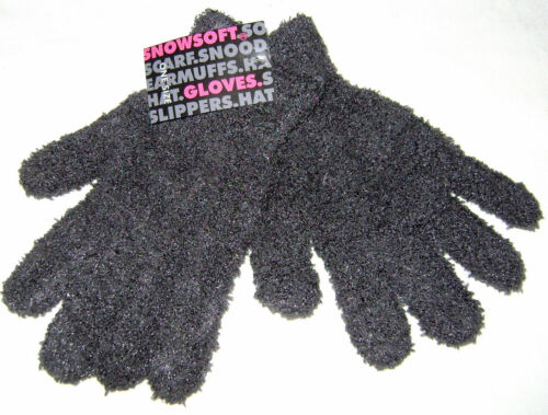 NEW LADIES SNOWSOFT SOFT FEEL GLOVES ONE SIZE FITS ALL GREY 153-G