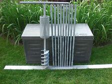 Brunnenbohrer-Erdbohrer mit Korb (Korbbohrer) und Gestängehalter 150 mm DM 10m