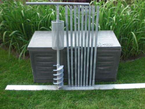 und Gestängehalter 150 mm DM 10m Brunnenbohrer-Erdbohrer mit Korb Korbbohrer