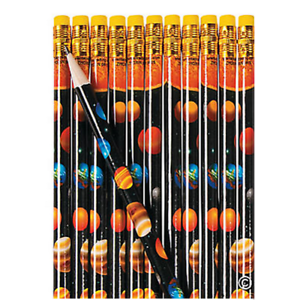 Pack-of-12-Space-Solar-System-Pencils-Party-Bag-Fillers-Teacher-Schools