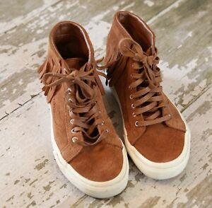 VANS-SK8-Hi-Top-Brown-Suede-Leather-Skate-Moc-Fringe-Bison-Brown-US-7-5-EUR-38