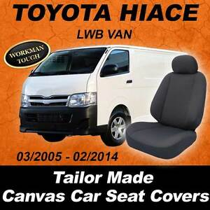 Canvas-Car-Seat-Covers-To-Fit-Toyota-Hiace-Van-LWB-03-2005-01-2014-WaterProof