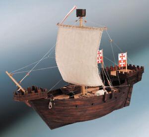 Kit de bateau modèle Dusek Hanse Kogge à l'échelle 1/72, échelle D003