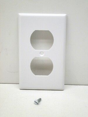 Lot Of 25 Leviton 88003 1 Gang Duplex Receptacle Outlet Cover Wall Plate White 78477151334 Ebay