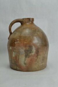 Antique-Primitive-Beehive-Stoneware-Jug-Whiskey-Salt-Glaze-Unique-Finish-AAFA