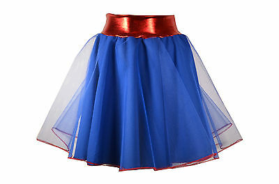 Costume//Fancy Dress Spiderman Style Superhero Girl/'s Spiderwoman Style Skirt