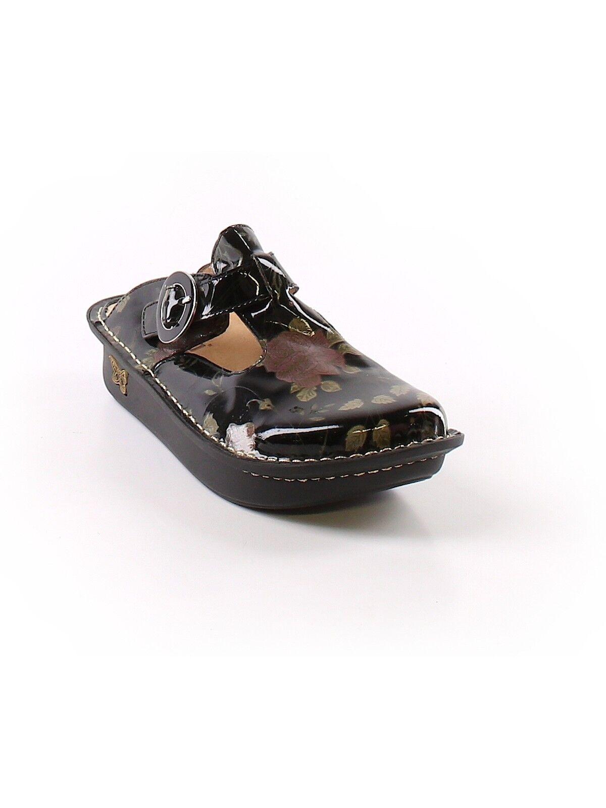 Alegria mujer Clásico Negro Patente rosado diapositiva mula mula mula Obstruir Zapato ALG-504 Talla 36  tienda