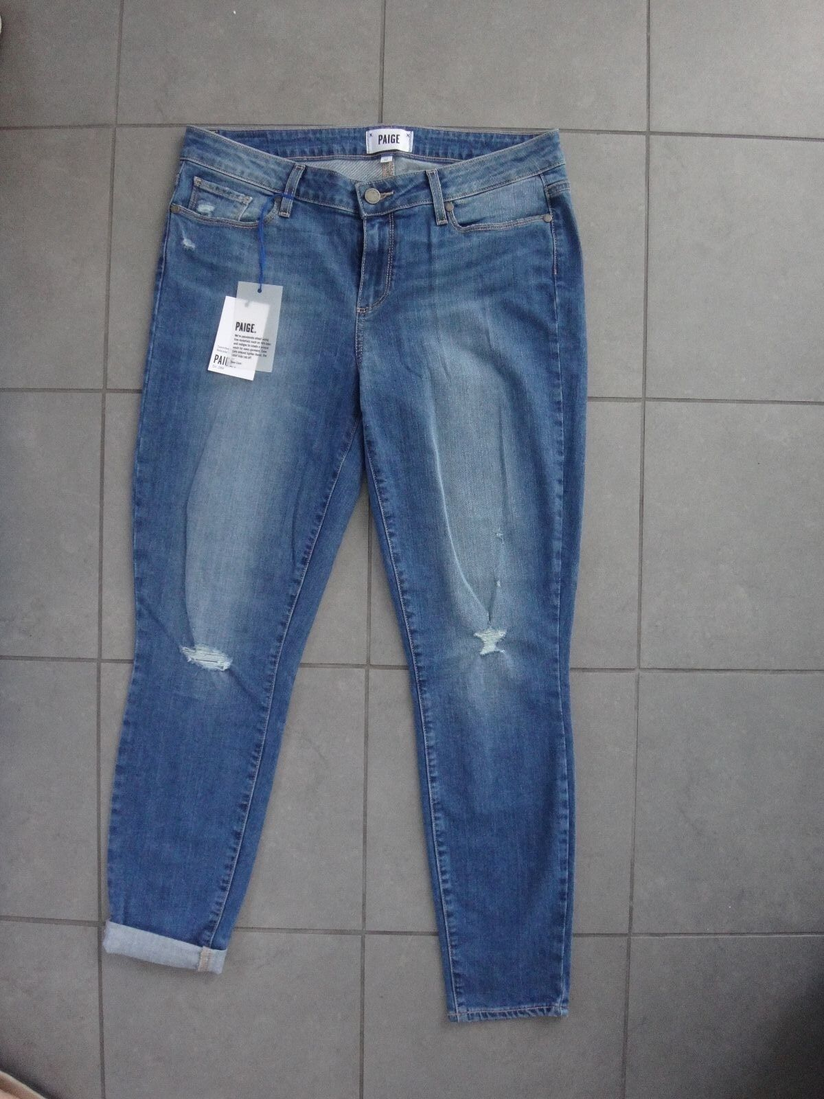 Paige verdugo ankle nora destructed skinny jeans sz.32 NWT