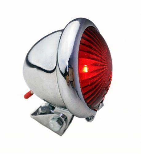 Bates Feu arrière LED red , RETRO cyclomoteur Style, Batterie chromé