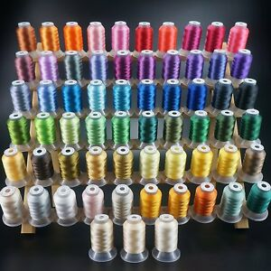 63-Colors-Polyester-amp-Sewing-Embroidery-Machine-Thread-Kit-550YD-Each-Spool