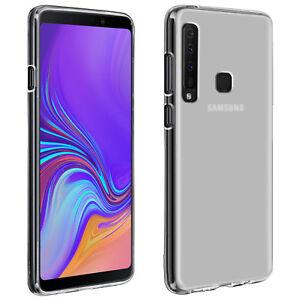 Custodia-in-Silicone-Lucido-amp-Opaco-Copertura-posteriore-per-Samsung-Galaxy-A9-2018-Bianco