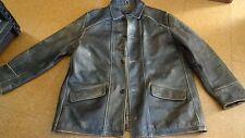 Vtg Distressed Colebrook Brown Leather Jacket Sz  XL    Medium length