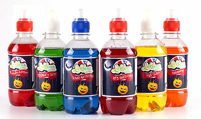 Halloween party themed 6 pack of concentrated Slush Syrup (6 flavours x 330ml)