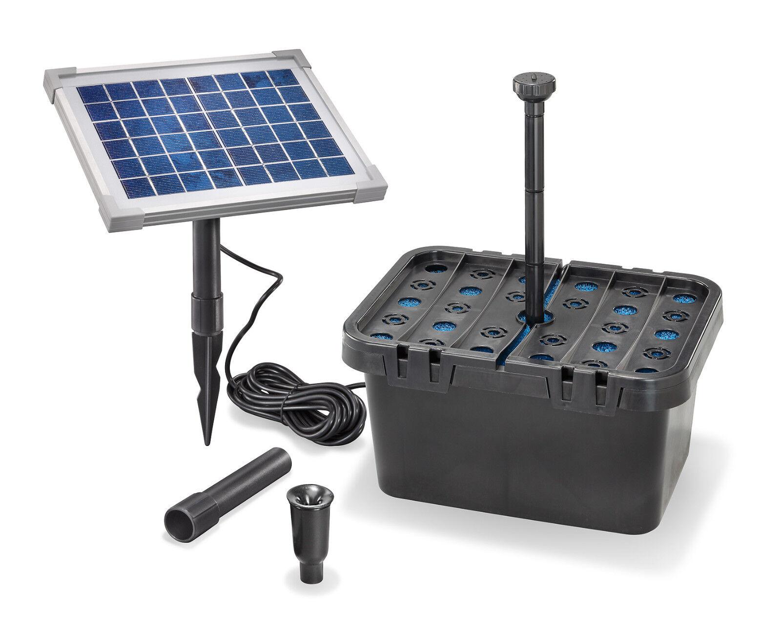 Estanque Solar filtro set 5 470 solar bomba jardín estanque pumpenset estanque esotec 101065