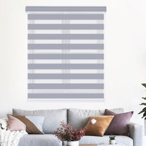 Zebra Shade Window Roller Blinds And Shades Curtain For Home Bedroom Living Room Ebay