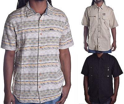 LRG Lifted Research Group Men/'s Stripe V Neck Shirt Choose Color /& Size