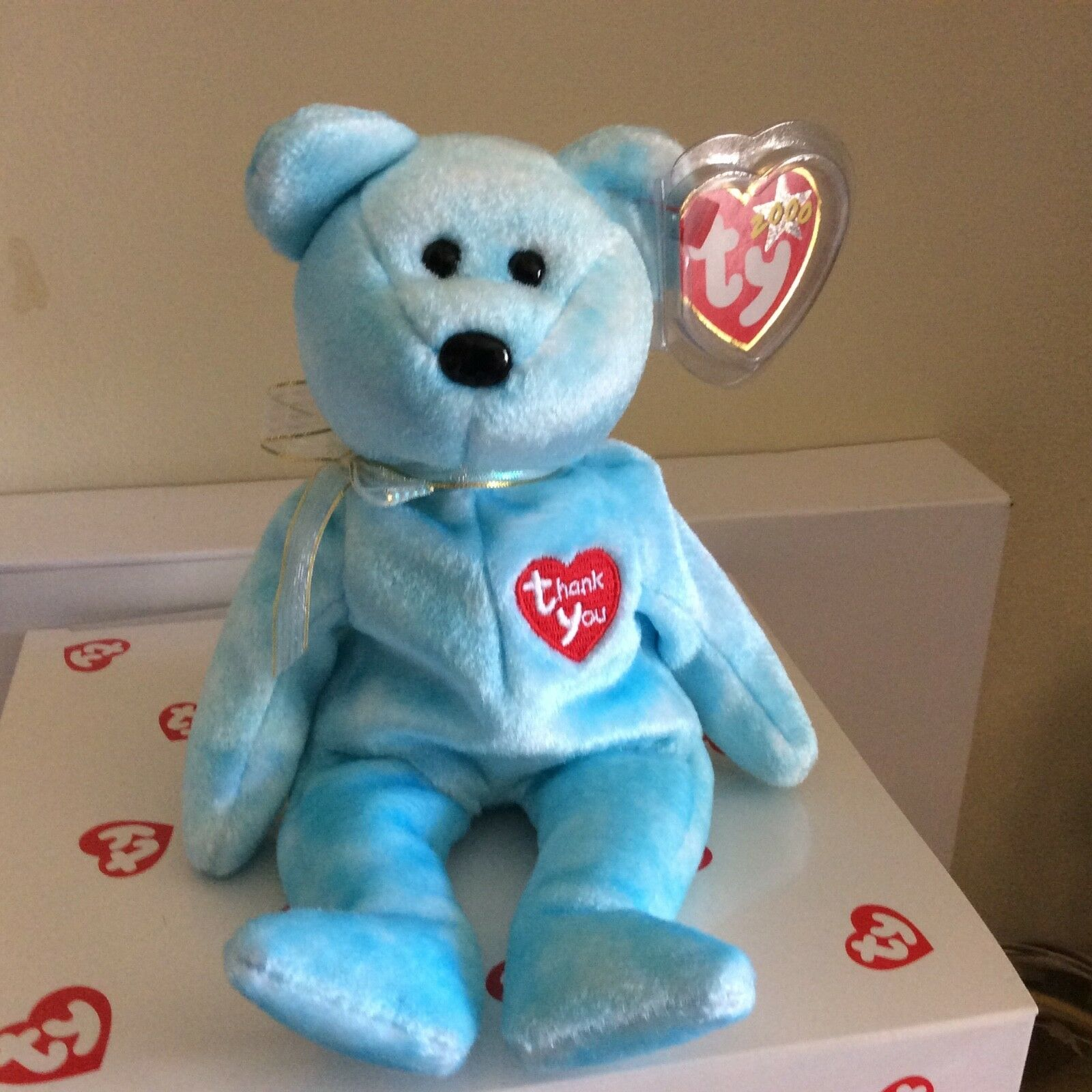 Ty Beanie Baby Baby Baby THANK YOU the Bear 2000 Retailer Exclusive MWMT 050c80