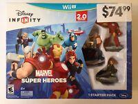 Wii U Disney Infinity 2.0 Game Marvel Super Heroes Starter Pack Sealed