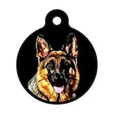 German Shepherd-Custom Personalized Pet ID Tag for Dog & Cat Collars & Harnesses
