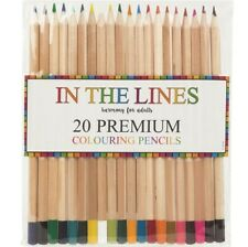 20 x Premium Colour Therapy Colouring Pencils Vibrant Artists Quality Drawing