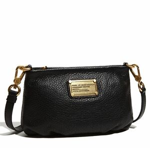 35a6e65313 New MARC by MARC JACOBS Classic Q Percy Leather Crossbody Bag BLACK ...