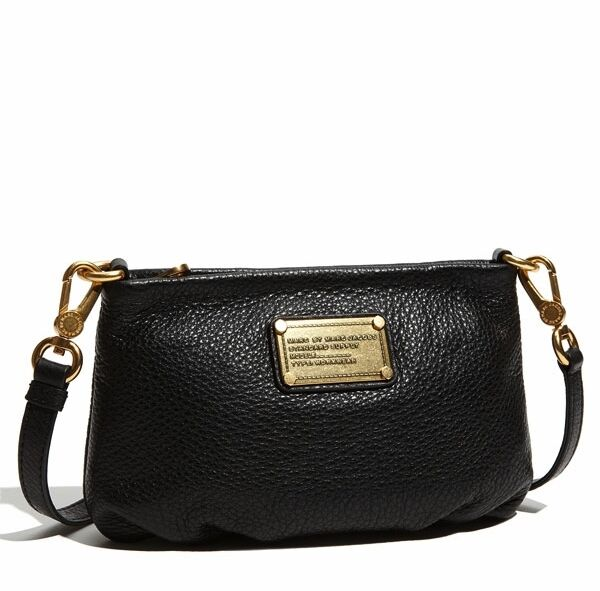 Nwt Marc By Jacobs Classic Q Percy Leather Crossbody Bag Black 100 Auth
