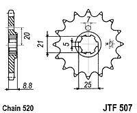 JT 14T Front Sprocket Vintage Kawasaki KDX250 80-84 KDX400 79-80 KDX420 KDX450