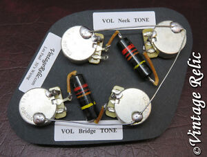s l300 upgrade wiring kit vintage 1950s bumblebee caps cts fit gibson les vintage les paul wiring diagram at bayanpartner.co