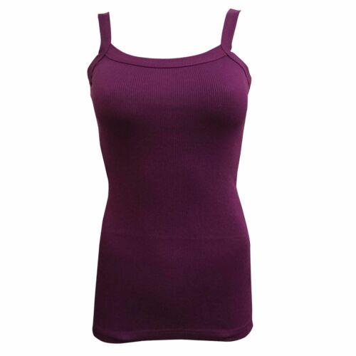 Nouveau-femmes-Côtelé Débardeur//Gym Top regular//Tailles Plus