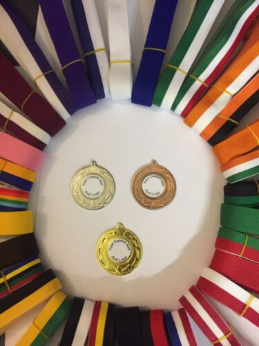 personailed avec vos écoles LOGO ruban et couleur. 10x Sports Jour Médailles