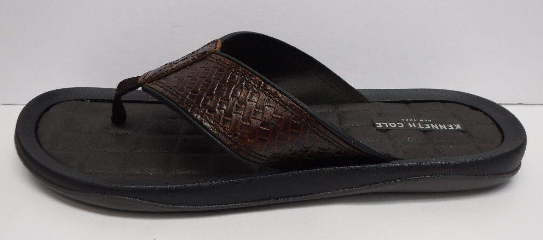 Kenneth Cole New York Taglia 10 marrone Pelle Sandals New Uomo Scarpe