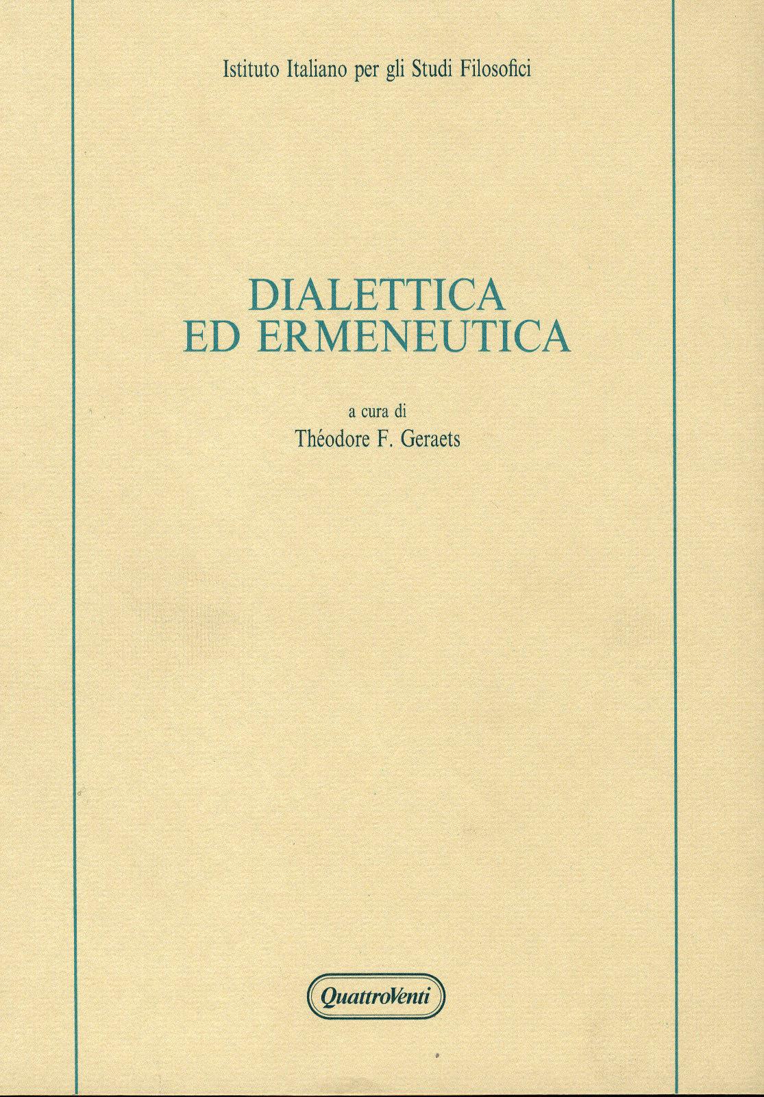 Dialettica ed ermeneutica