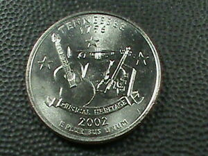 UNITED STATES    25 Cents    2002 P    UNC    TENNESSEE   *